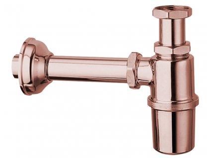 Umyvadlový sifon 1'1/4, odpad 32mm, růžové zlato 9597