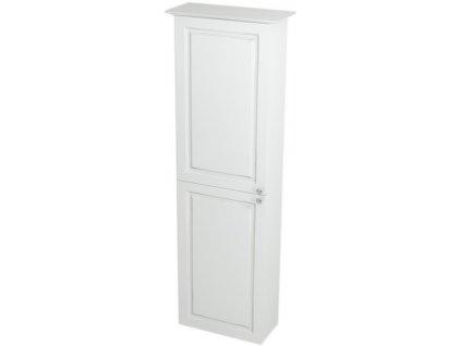 VIOLETA skříňka vysoká 40x140x20cm, levá, bílá pololesk VI170L