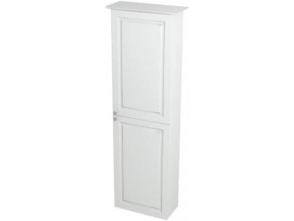 VIOLETA skříňka vysoká 40x140x20cm, pravá, bílá pololesk VI175P