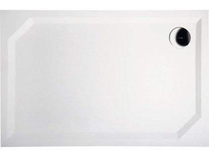 SARA sprchová vanička z litého mramoru, obdélník 110x80x4cm, hladká HS11080