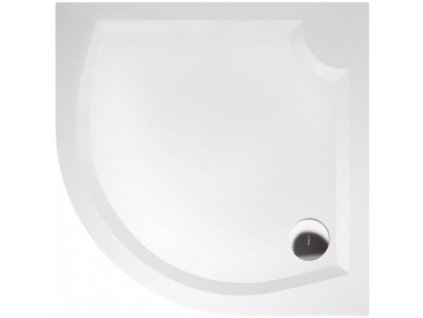 LAURA100 sprchová vanička z litého mramoru, čtvrtkruh 100x100x4cm, R500 GL501