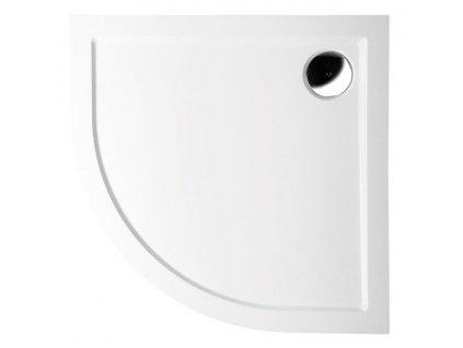 SERA vanička z litého mramoru, čtvrtkruh 100x100x4cm, R550, bílá 62111