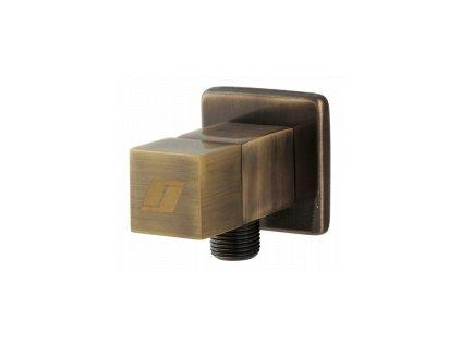 Rohový ventil 3/8 x 1/2 hranatý, bronz 1475B