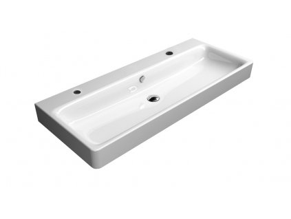 SAND keramické umyvadlo 120x50 cm, 2 OTVORY, ExtraGlaze 9024211