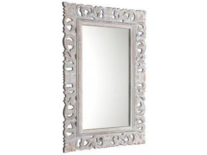 SCULE zrcadlo v rámu, 80x120cm, bílá IN324