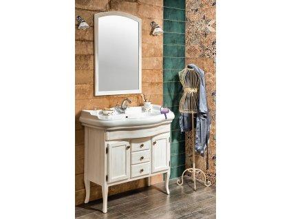 Sapho Koupelnový set RETRO 100, starobílá KSET-015