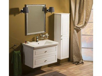Sapho Koupelnový set VIOLETA 90, bílá pololesk KSET-003
