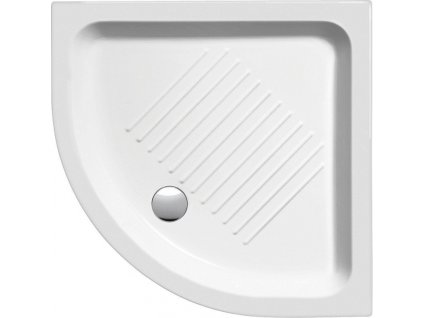 Keramická sprchová vanička, čtvrtkruh 90x90x12cm, R550 449011