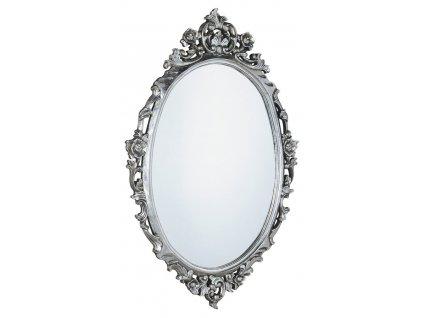 DESNA oválné zrcadlo v rámu, 80x100cm, stříbrná IN344