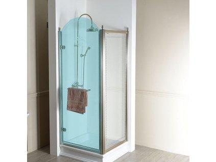 ANTIQUE boční stěna 800mm, ČIRÉ sklo, bronz GQ5680C