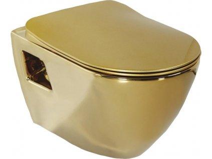 PAULA WC závěsné 35,5x50cm, zlatá (TP325.00110) TP325-AK00
