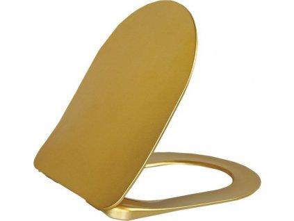 PAULA WC sedátko, Slim soft close, duroplast, zlatá (KC4080.A0) KC0903