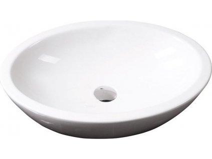 SISTEMA keramické umyvadlo oválné bez přepadu 60x42cm, bílá 10AR65060