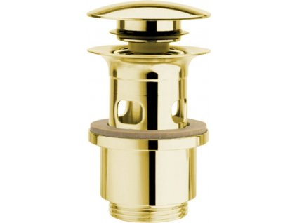 Uzavíratelná k. výpust pro umyvadla s přepadem Click Clack, tichá, V 40-64mm, zl UD399S52