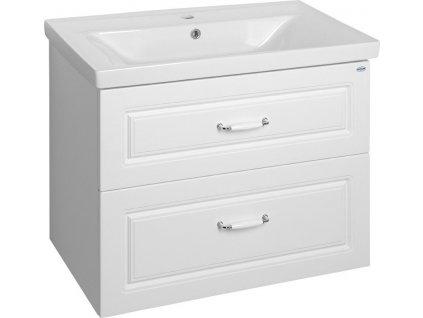FAVOLO umyvadlová skříňka 76,5x60x44,6cm, bílá mat FV280
