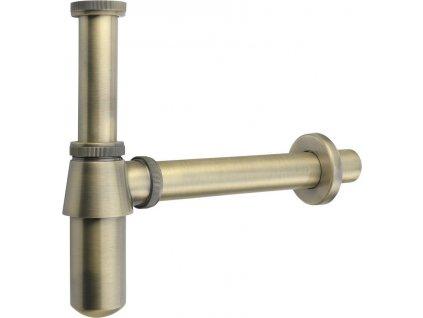 RETRO umyvadlový sifon 1'1/4, odpad 35 mm, bronz 9696