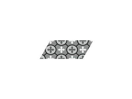 CHEVRON FLOOR Patchwork B&W Izquierdo 9x20,5 (EQ-10D) (1bal=1m2) 23210