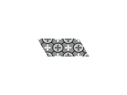 CHEVRON FLOOR Patchwork B&W Derecho 9x20,5 (EQ-10D) (1bal=1m2) 23211_E