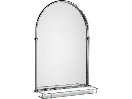 TIGA zrcadlo 48x67cm, skleněná polička, chrom HZ202