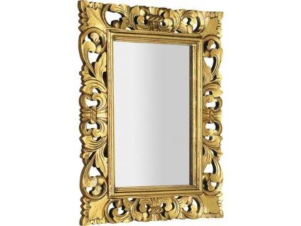 SAMBLUNG zrcadlo v rámu, 60x80cm, zlatá IN121