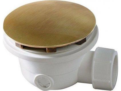 Vaničkový sifon, průměr otvoru 90 mm, DN40, krytka bronz 1711A