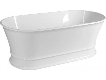 DELONIX volně stojící vana litý mramor 170x84x61,5cm, bílá 92130