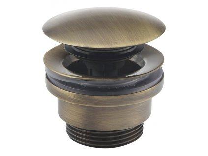 Uzavíratelná k. výpust pro umyvadla s i bez přepadu Click Clack, V 5-55mm, bronz UD425S92