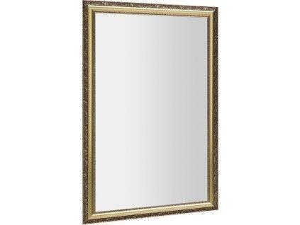BOHEMIA zrcadlo v dřevěném rámu 589x989mm, zlatá NL484