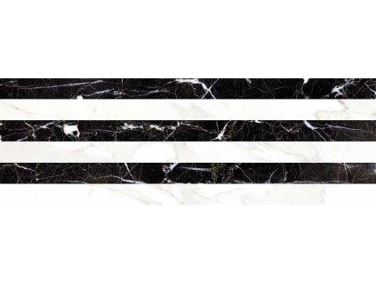 CARRARA Relieve Stripe Albinegro Brillo G 20x60 (bal=1,20 m2) CAR003