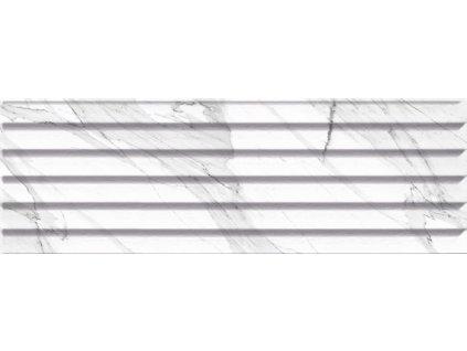 CARRARA Relieve Stripe Blanco Brillo G 20x60 (bal=1,20 m2) CAR002