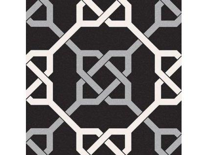 NAUTIC Taco Black 16,5x16,5 (bal=0,55m2) NTC003