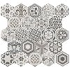 HEXATILE Harmony B&W 17,5x20 (EQ-10D) (1bal=1m2) 21357