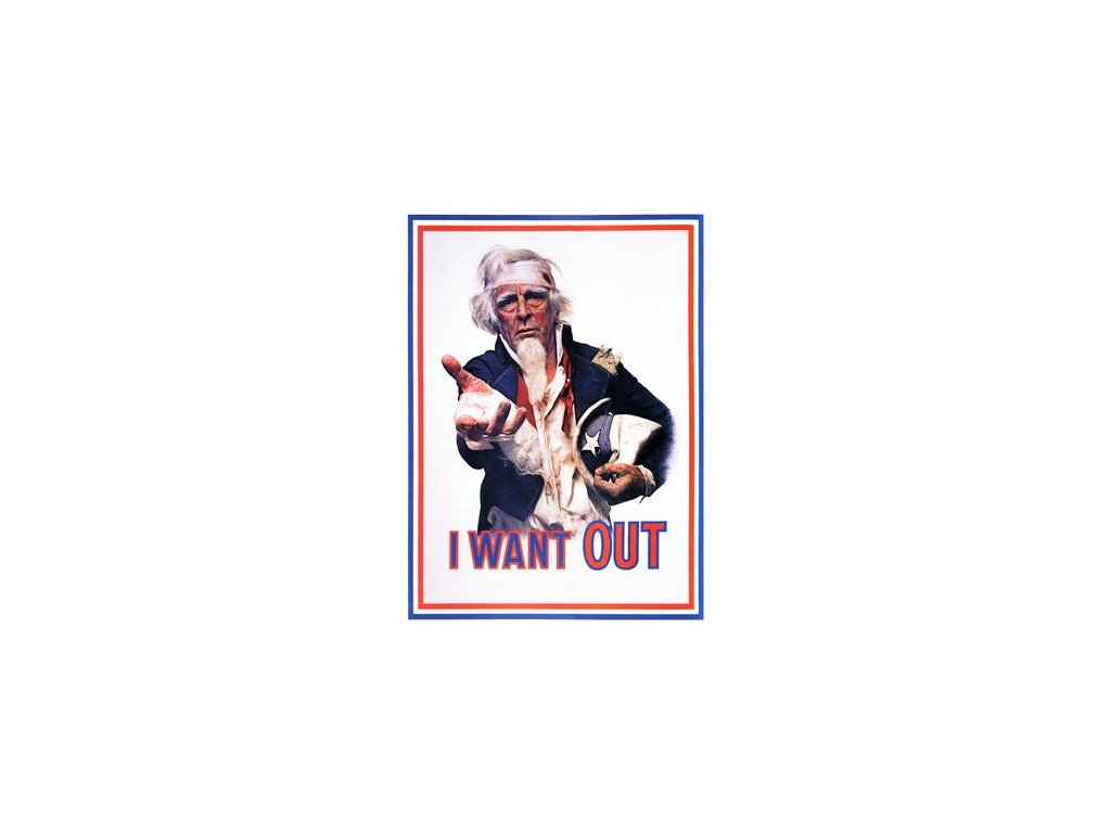 Plakát I Want Out, USA 1970s, 30x40cm