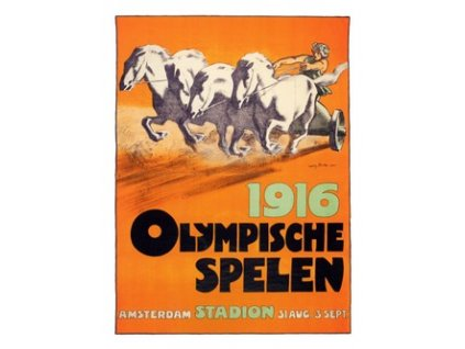 Plakát Olympic Games, Amsterdaam 1916, 30x40cm