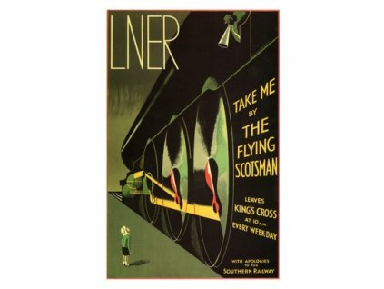 Plakát Flying Scotsman, 1932, 30x40cm