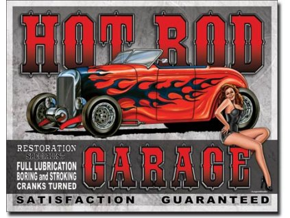 Plechová cedule Legends - Hot Rod Garage 32 x 41 cm