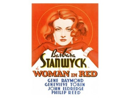Plakát Woman In Red, Barbara Stanwyck, 1935, 30x40cm