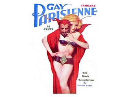 Plakát Gay Parisienne, Pin-up Girl 1937, 30x40cm
