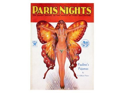 Plakát Paris Nights, Pin-up Girl 1933, 30x40cm