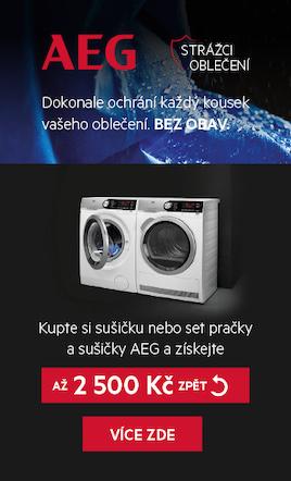 Cashback akce AEG | Sušičky a pračky | Retrospot.cz