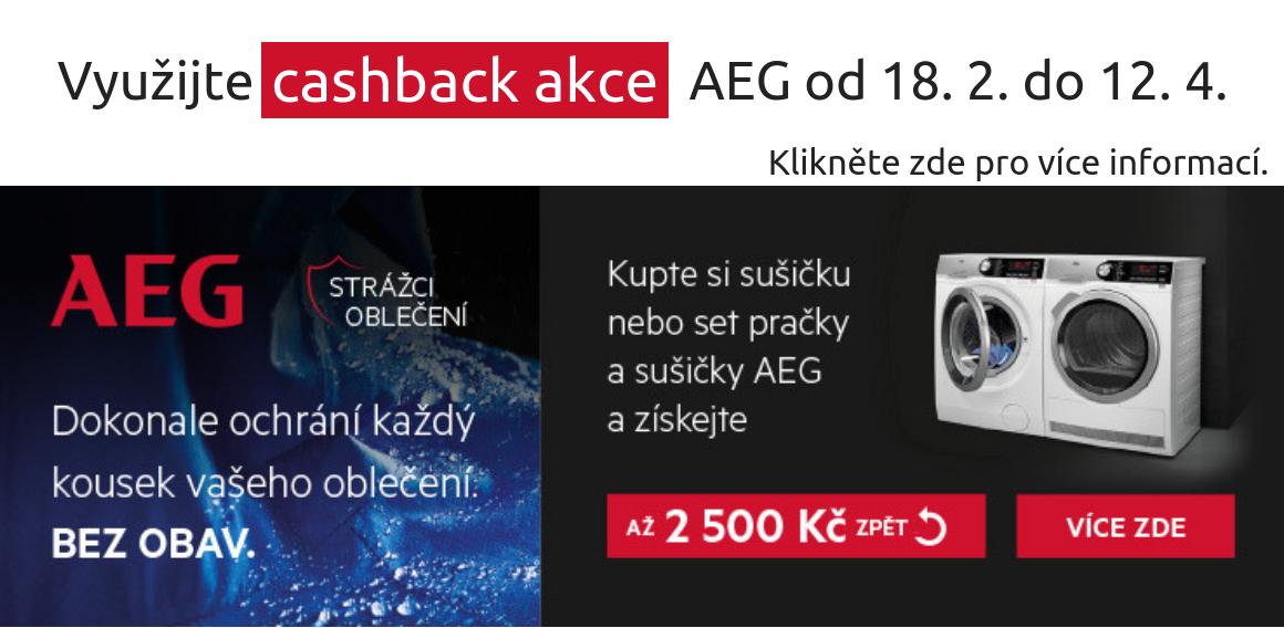 AEG Cashback 2019   Pračky a sušičky