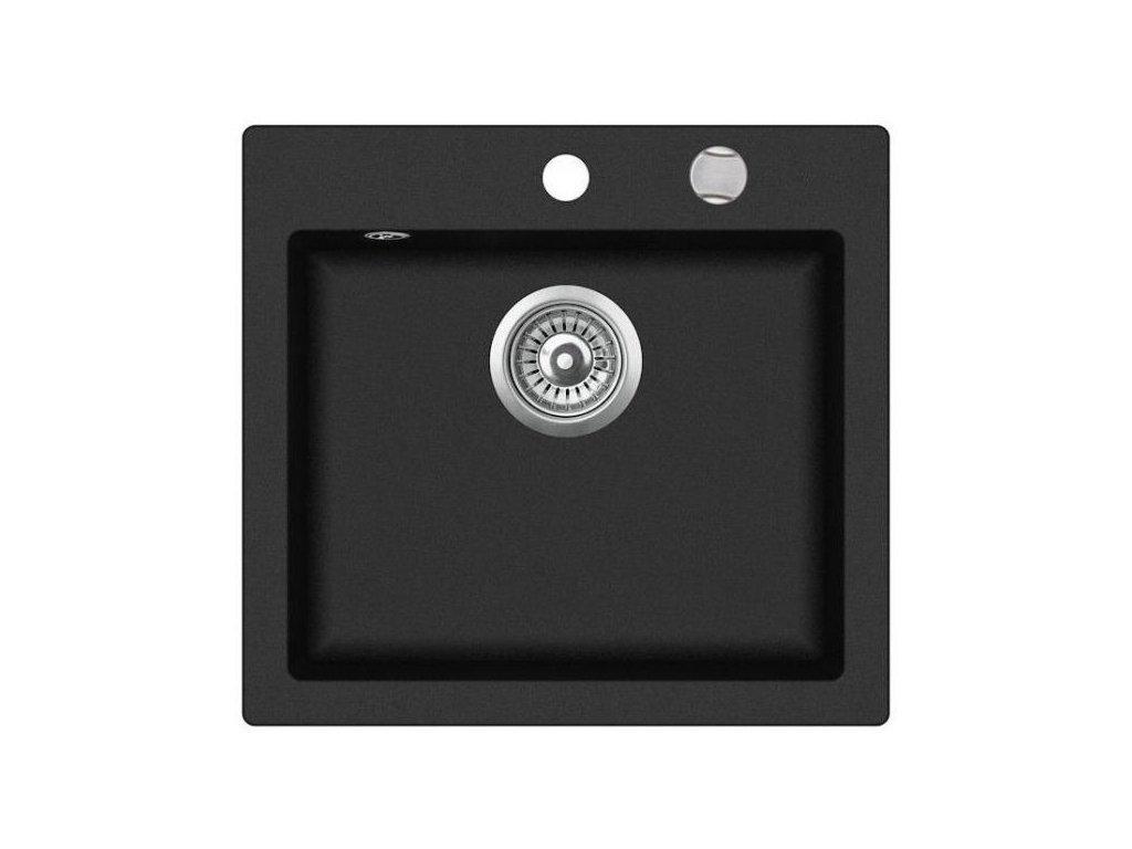 Teka Livo 50 S-TQ Černá metalická  + Dárek Univerzální odstraňovač vodního kamene 1 litr