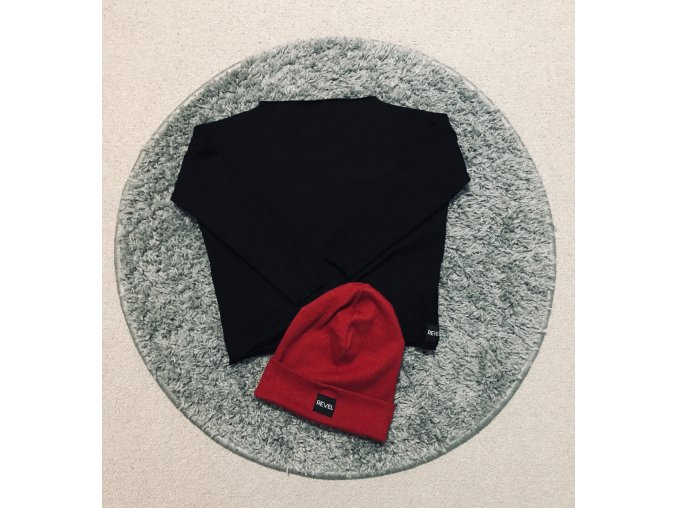 Dievčenská Basic mikina Black - Revel