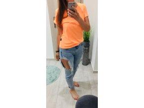 Dámske tričko Summer Vibes - Neon Orange