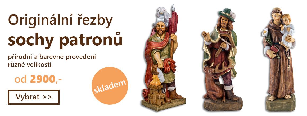 Ručně vyřezávané sochy patronů
