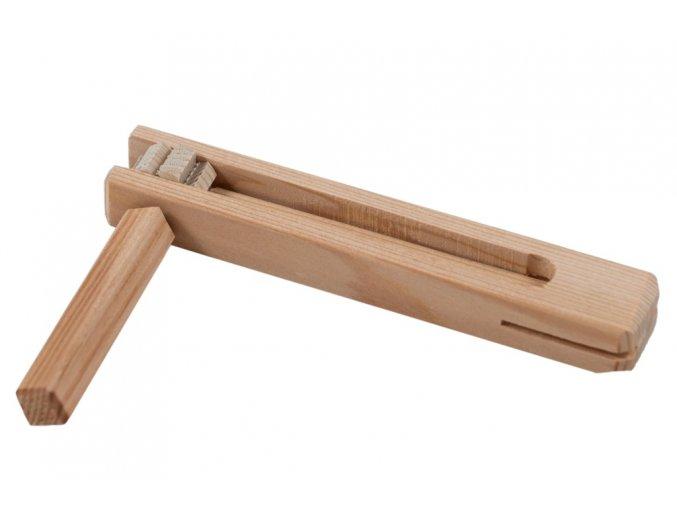 Dřevěná řehtačka - střední 25 cm