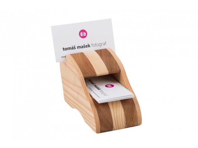 Luxusní dřevěný vizitkář - stolní I
