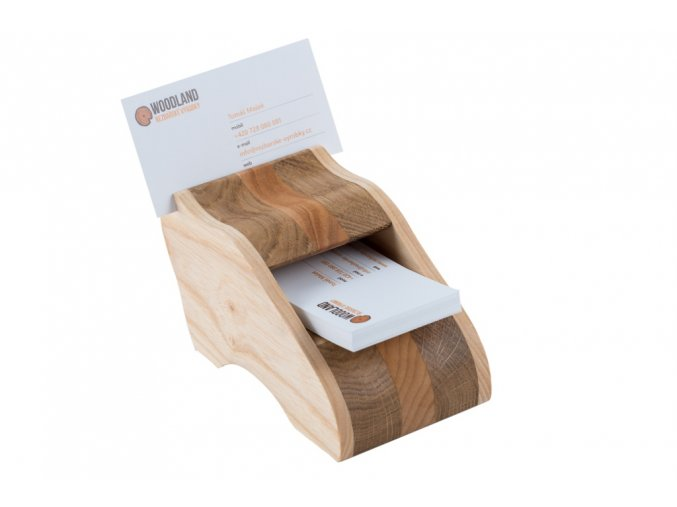 Luxusní dřevěný vizitkář - stolní II