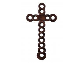 Dřevěný kříž s oky