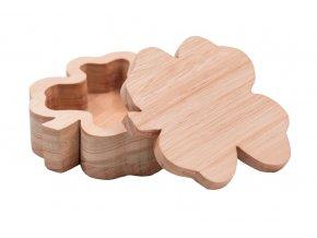 Dřevěná šperkovnice - čtyřlístek
